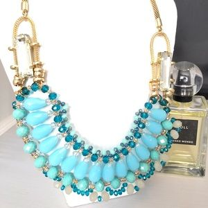 Jewelry - GORGEOUS TURQUOISE CRYSTAL NECKLACE